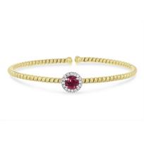 18k_yellow_and_white_gold_diamond_halo_and_pink_tourmaline_flexible_cuff_bracelet