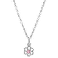 Sterling_Silver_Child's_Pink_Tourmaline_Flower_Pendant,_15""