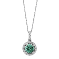 14K_White_Gold_Green_Tourmaline_and_Diamond_Pendant