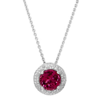 18K_White_Gold_Rubellite_Tourmaline_&_Round_Diamond_Triple_Halo_Pendant