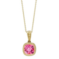 14K_Yellow_Gold_Bezel_Set_Checkerboard_Pink_Tourmaline_Pendant