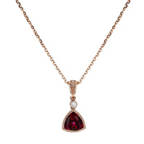 14k_rose_gold_trillion_rubelite_tourmaline_&_diamond_milgrain_bezel_pendant,_18""