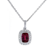 14k_white_gold_cushion_rubelite_tourmaline_&_diamond_frame_pendant,_18""