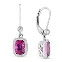 14K_White_Gold_Pink_Tourmaline_and_Diamond_Earrings