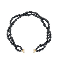 clara_williams_limited_edition_yellow_tone_and_black_tourmaline_double_strand_necklace,_16.5""