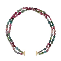 clara_williams_limited_edition_yellow_tone_and_multi_tourmaline_double_strand_necklace,_16.5""