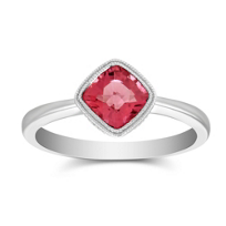 14K_White_Gold_Checkerboard_Cushion_Pink_Tourmaline_Milgrain_Ring