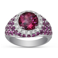 18K_White_Gold_Pink_Tourmaline,_Pink_Sapphire_and_Diamond_Ring
