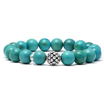 Lagos Sterling Silver & Turquoise Beaded Maya Bracelet