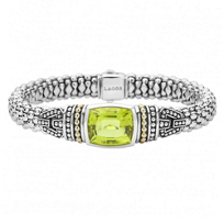 Lagos_Sterling_Silver_&_18K_Yellow_Gold_Caviar_Color_Green_Quartz_Bracelet