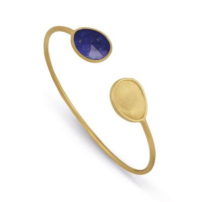 Marco Bicego 18K Yellow Gold & Lapis Lunaria Hugging Bangle