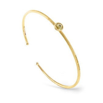 Marco Bicego 18K Yellow Gold Single Lemon Citrine Bangle