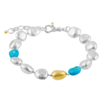 Gurhan_Sterling_Silver_&_Yellow_Tone_Turquoise_Spell_Hue_Bracelet