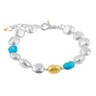 Gurhan Sterling Silver & Yellow Tone Turquoise Spell Hue Bracelet