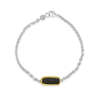 Gurhan_24K_Yellow_Gold_Overlay_&_Sterling_Silver_Rectangular_Black_Druzy_Quartz_Bracelet_