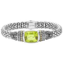 Lagos_Green_Quartz_Bezel-Set_Sterling_Silver_Caviar_Bracelet