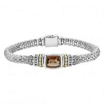 lagos_sterling_silver_&_18k_yellow_gold_caviar_color_smoky_quartz_bracelet