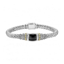 lagos_sterling_silver_&_18k_yellow_gold_onyx_caviar_color_bracelet