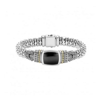 lagos_sterling_silver_&_18k_yellow_gold_onyx_caviar_color_wide_bracelet