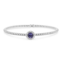 18k_white_gold_diamond_halo_and_iolite_flexible_cuff_bracelet