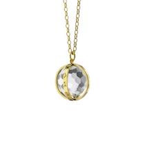 "Monica_Rich_Kosann_18K_Yellow_Gold_and_Rock_Crystal_Large_""Carpe_Diem""_Necklace"
