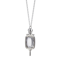 Monica_Rich_Kossan_Sterling_Silver_Rectangular_Rock_Crystal_Pocketwatch_Key_Necklace