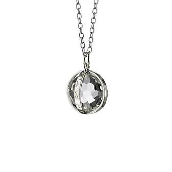 Monica Rich Kosann Sterling Silver Carpe Diem Charm Necklace