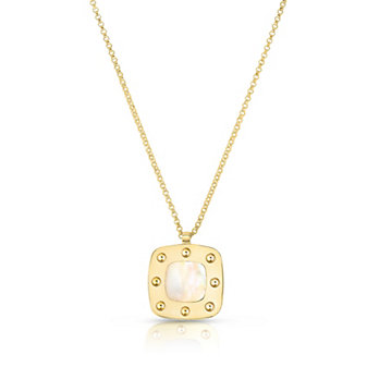 Roberto Coin 18K Yellow Gold Mother of Pearl Pois Moi Pendant