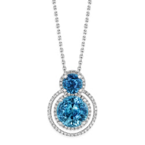 18K_White_Gold_Blue_Zircon_and_Diamond_Halo_Pendant