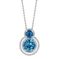 18K_White_Gold_Blue_Zircon_and_Diamond_Halo_Pendant