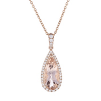 14k_rose_gold_pear_shaped_checkerboard_morganite_diamond_halo_pendant