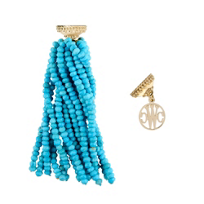 clara_williams_limited_edition_yellow_tone_and_turquoise_beaded_tassel_centerpiece