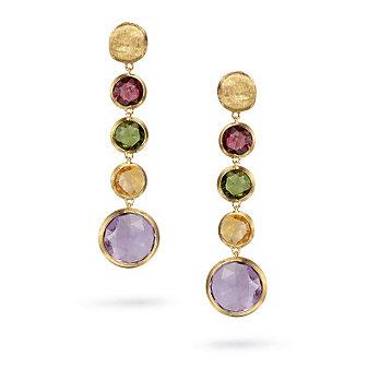 Marco Bicego 18K Yellow Gold Jaipur Mixed Gemstone Drop Earrings