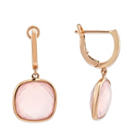 14K_Rose_Gold_Checkerboard_Cushion_Rose_Quartz_Drop_Earrings