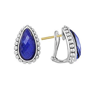 Lagos Sterling Silver Maya Lapis Doublet Teardrop Earrings
