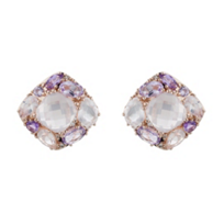 14K_Rose_Gold_Multi-Stone_&_Diamond_Omega_Back_Earrings,_0.04cttw