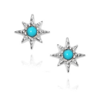 Anzie_Sterling_Silver_Aztec_Turquoise_Earrings
