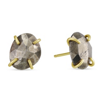 Melissa_Joy_Manning_14K_Yellow_Gold_Faceted_Pyrite_Post_Earrings