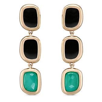 Roberto Coin 18K Rose Gold Black Jade Drop Earrings