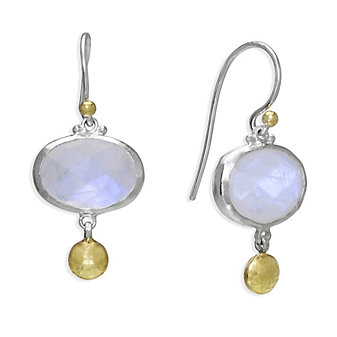 Gurhan Sterling Silver & 24K Lentil Moonstone Earrings