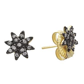 Freida Rothman Sterling Silver Starburst Stud Earrings