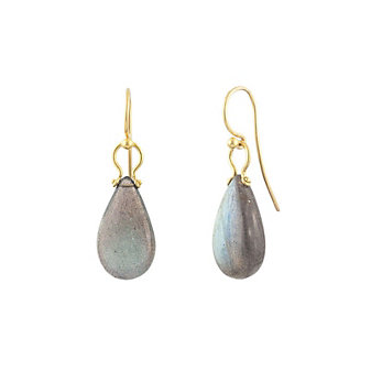 gurhan 24k yellow gold teardrop labradorite shepherd hook earrings
