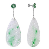 14K_White_Gold_White_&_Green_Carved_Jade_Drop_Earrings_With_Diamonds