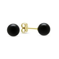 14K_Yellow_Gold_Black_Onyx_Earrings,_7mm