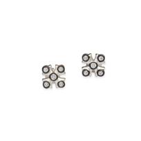 Freida_Rothman_Sterling_Silver_and_Black_Rhodium_Maltese_Post_Earrings