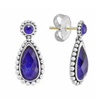 Lagos_Sterling_Silver_Maya_Pear_Shaped_Lapis_Doublet_Earrings_with_14K_Yellow_Gold_Posts