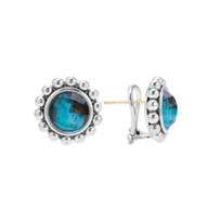 Lagos_Maya_Chrysocolla_Doublet_Circle_Earrings