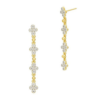 freida rothman yellow stone sterling silver clover drop earrings