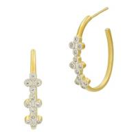 freida_rothman_yellow_tone_sterling_silver_clover_hoop_earrings