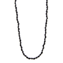 14K_Yellow_Gold_Onyx_Bead_Necklace,_17.5""